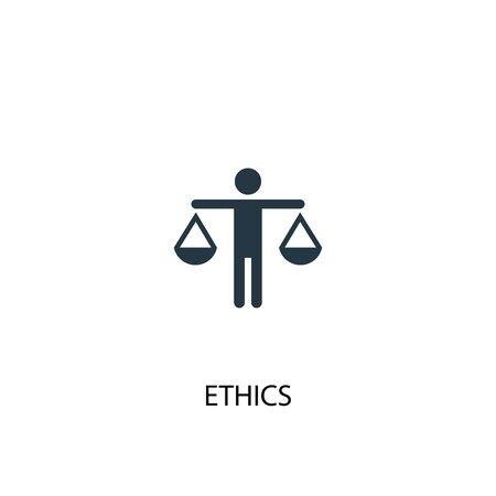Ethik-Symbol. Einfache Elementabbildung. Ethik-Konzept-Symbol-Design. Kann für Web verwendet werden Vektorgrafik