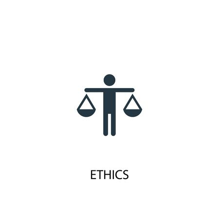 ethics icon. Simple element illustration. ethics concept symbol design. Can be used for web