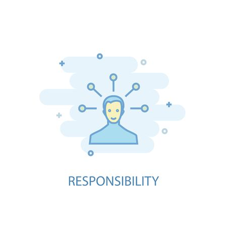 responsibility line concept. Simple line icon, colored illustration. responsibility symbol flat design. Can be used for