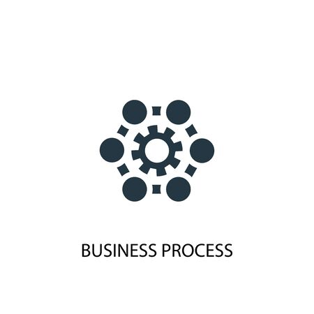 Business process icon. Simple element illustration. Business process concept symbol design. Can be used for web Ilustrace