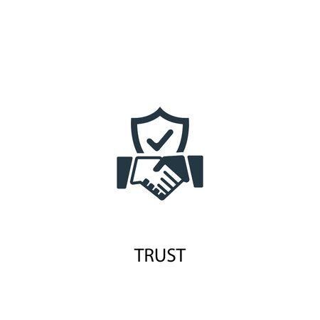 trust icon. Simple element illustration. trust concept symbol design. Can be used for web Vektoros illusztráció