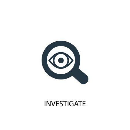 icona di indagine. Illustrazione semplice dell'elemento. indagare il design del simbolo del concetto. Può essere utilizzato per il web