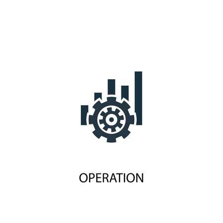 operation icon. Simple element illustration. operation concept symbol design. Can be used for web