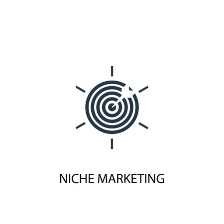 Niche Marketing icon. Simple element illustration. Niche Marketing concept symbol design. Can be used for web Çizim