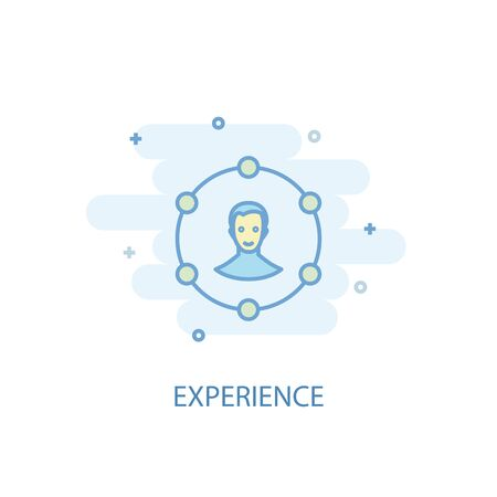 experience line concept. Simple line icon, colored illustration. experience symbol flat design. Can be used for Stock Vector - 130775821