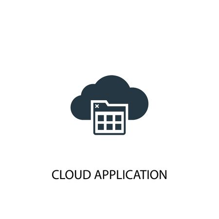 Cloud application icon. Simple element illustration. Cloud application concept symbol design. Can be used for web