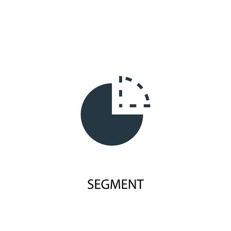 segment icon. Simple element illustration. segment concept symbol design. Can be used for web