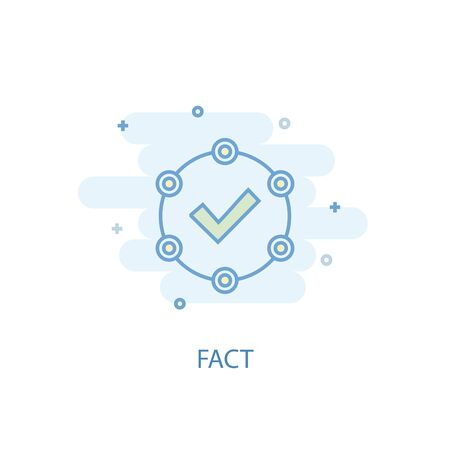 fact line concept. Simple line icon, colored illustration. fact symbol flat design. Can be used for Illusztráció