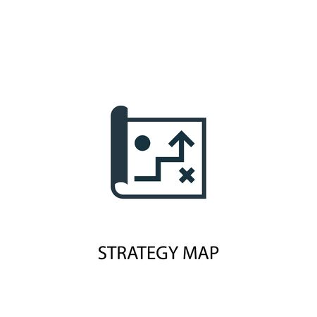 strategy map icon. Simple element illustration. strategy map concept symbol design. Can be used for web Ilustração