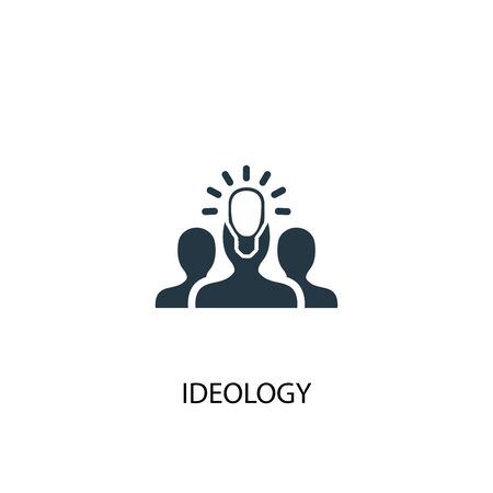 ideology icon. Simple element illustration. ideology concept symbol design. Can be used for web Иллюстрация