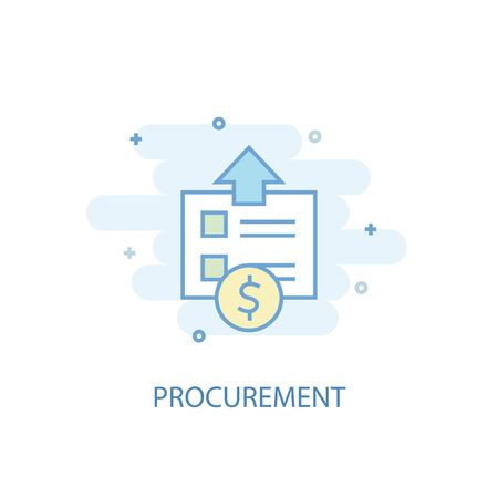procurement line concept. Simple line icon, colored illustration. procurement symbol flat design. Can be used for Illustration