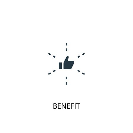 benefit icon. Simple element illustration. benefit concept symbol design. Can be used for web Illustration