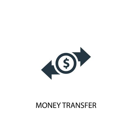 money transfer icon. Simple element illustration. money transfer concept symbol design. Can be used for web