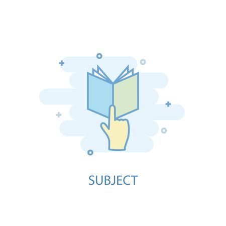 subject line concept. Simple line icon, colored illustration. subject symbol flat design. Can be used for