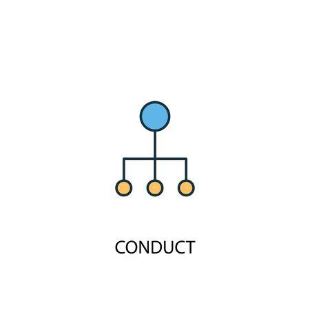 conduct concept 2 colored line icon. Simple yellow and blue element illustration. conduct concept outline design Illusztráció