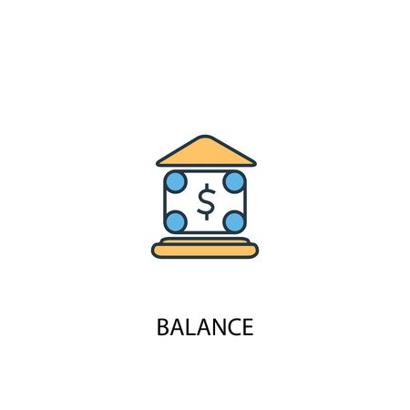 balance concept 2 colored line icon. Simple yellow and blue element illustration. balance concept outline design 向量圖像