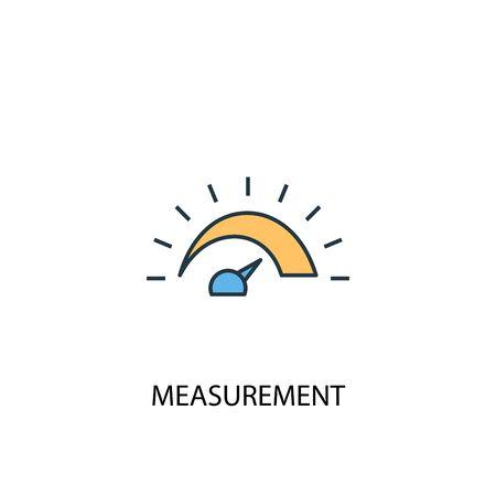 measurement concept 2 colored line icon. Simple yellow and blue element illustration. measurement concept outline design Stok Fotoğraf - 130774591