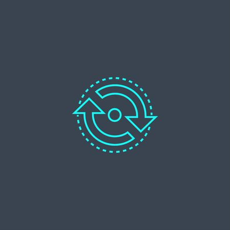 consistency concept blue line icon. Simple thin element on dark background. consistency concept outline symbol design. Can be used for web and mobile