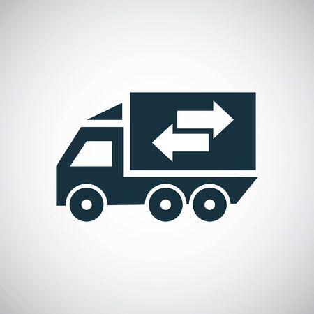 truck arrow icon for web and UI on white background Ilustração