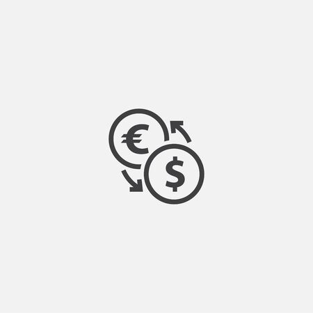 currency converter base icon. Simple sign illustration. currency converter symbol design. Can be used for web and mobile Illusztráció