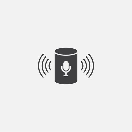 voice assistant base icon. Simple sign illustration. voice assistant symbol design. Can be used for web and mobile