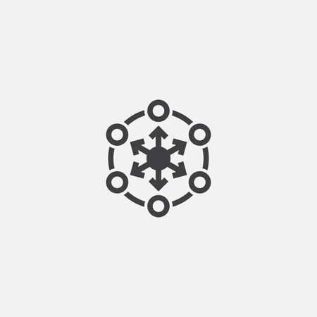 decentralized base icon. Simple sign illustration. decentralized symbol design. Can be used for web, print and mobile