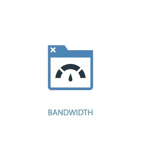 Bandwidth concept 2 colored icon. Simple blue element illustration. Bandwidth concept symbol design. Can be used for web and mobile