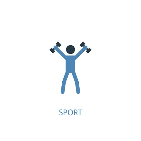 sport concept 2 colored icon. Simple blue element illustration. sport concept symbol design. Can be used for web and mobile