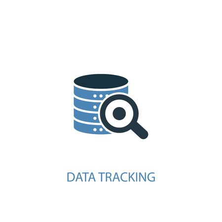 data tracking concept 2 colored icon. Simple blue element illustration. data tracking concept symbol design. Can be used for web and mobile