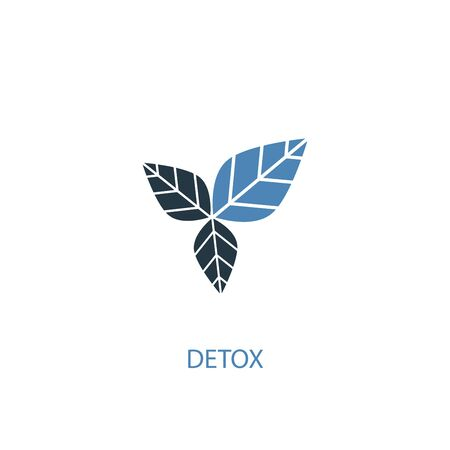 detox concept 2 colored icon. Simple blue element illustration. detox concept symbol design. Can be used for web and mobile Stok Fotoğraf - 130895594