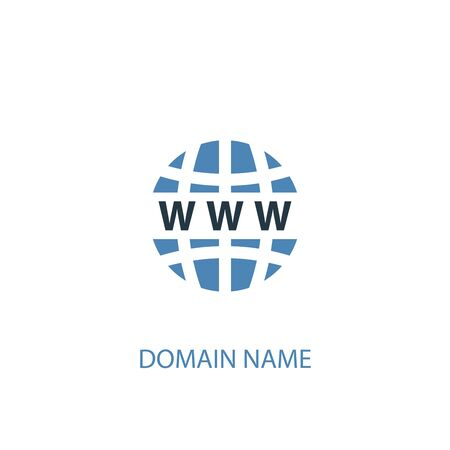 Domain Name concept 2 colored icon. Simple blue element illustration. Domain Name concept symbol design. Can be used for web and mobile