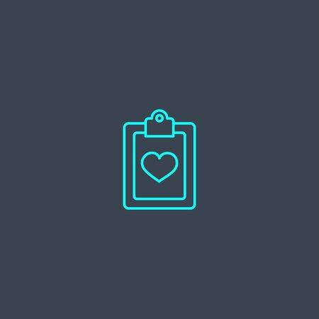 Medical services concept blue line icon. Simple thin element on dark background. Medical services concept outline symbol design. Can be used for web and mobile Illustration