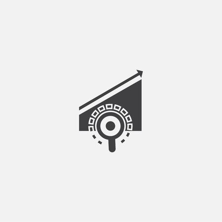 trend research base icon. Simple sign illustration. trend research symbol design. Can be used for web and mobile Çizim