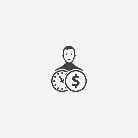 Private debt base icon. Simple sign illustration. Private debt symbol design. Can be used for web and mobile