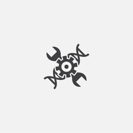 biohacking base icon. Simple sign illustration. biohacking symbol design. Can be used for web and mobile
