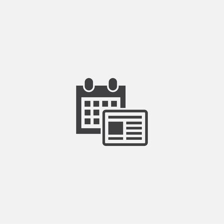 content schedule base icon. Simple sign illustration. content schedule symbol design. Can be used for web and mobile  イラスト・ベクター素材