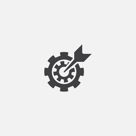 goal setting base icon. Simple sign illustration. goal setting symbol design. Can be used for web and mobile 向量圖像