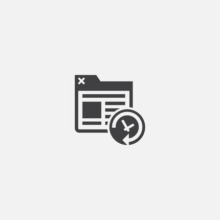 Site backup base icon. Simple sign illustration. Site backup symbol design. Can be used for web and mobile