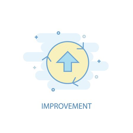 improvement line concept. Simple line icon, colored illustration. improvement symbol flat design 向量圖像