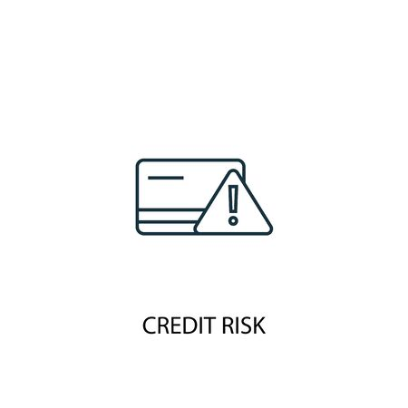 Credit risk concept line icon. Simple element illustration. Credit risk concept outline symbol design. Can be used for web and mobile UI
