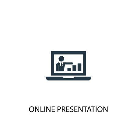 ikona prezentacji online. Prosta ilustracja elementu. projekt symbolu koncepcji prezentacji online. Może być używany w sieci i na urządzeniach mobilnych.