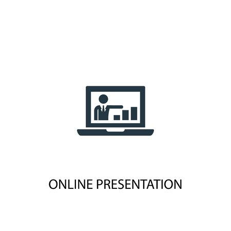 online presentation icon. Simple element illustration. online presentation concept symbol design. Can be used for web and mobile.