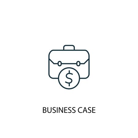 business case concept line icon. Simple element illustration. business case concept outline symbol design. Can be used for web and mobile