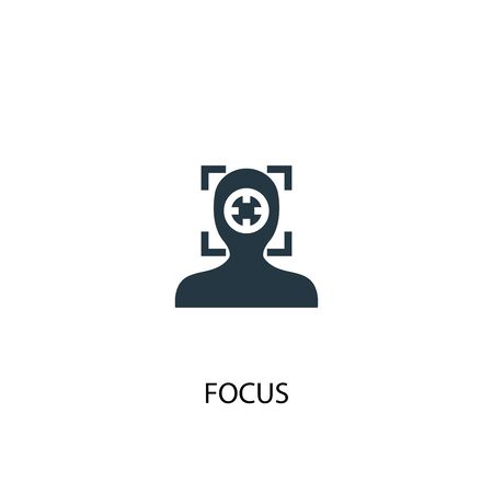focus icon. Simple element illustration. focus concept symbol design. Can be used for web and mobile.