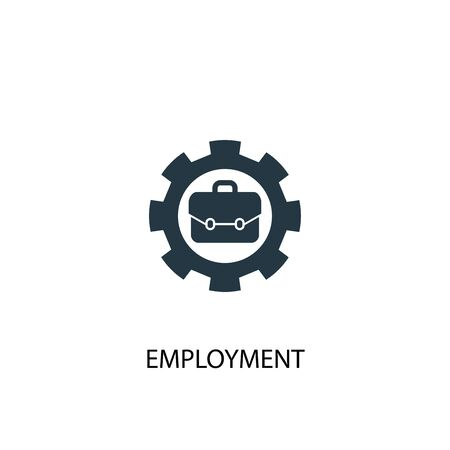 employment icon. Simple element illustration. employment concept symbol design. Can be used for web