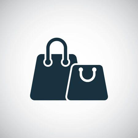 shopping bags icon, on white background.