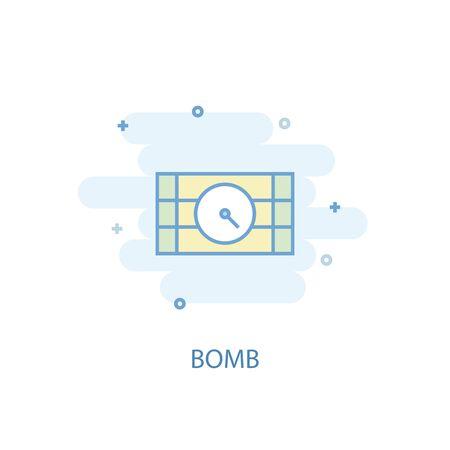 bomb line concept. Simple line icon, colored illustration. bomb symbol flat design