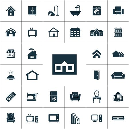 home icons universal set for web and mobile.