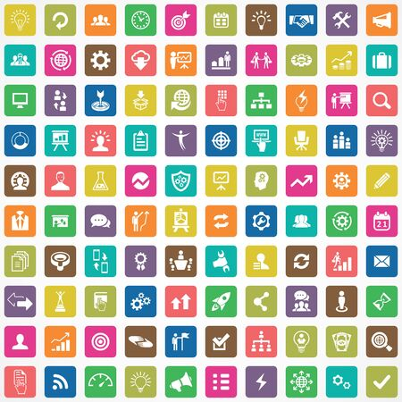 solution 100 icons universal set for web and UI