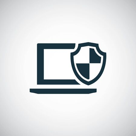 laptop shield icon trendy symbol concept template